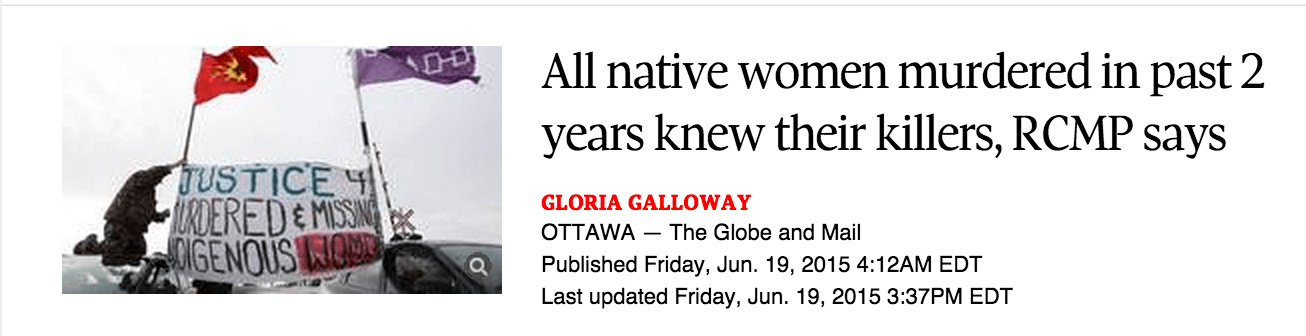 All_native_women_murdered_in_past_2_years_knew_their_killers__RCMP_says_-_The_Globe_and_Mail